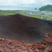 Heimaey - Blick in den Krater
