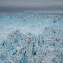 Gletscherabbruchkante 7 km breit