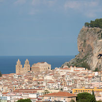 Cefalù - Blick auf den Dom.