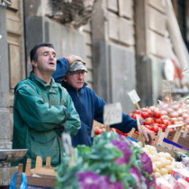 Catania - Katusfeigen auch hier auf dem Markt.