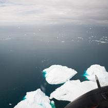 Nur 10-12 % der Eisberge befinden sich über denn Wasser