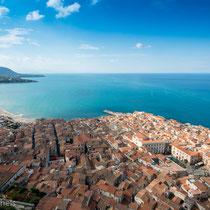 Cefalù - Blick auf die Altstadt