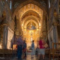 Monreale - die Kathedrale , ein Normannenbau  aus dem 12. Jahrhundert mit 6340 qm Mosaiken.