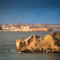 Syrakus - Blick auf Ortygia, der alte Stadtkern von Syrakus.