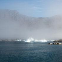 Qeqertarsuaq - morgendlicher Küstennebel