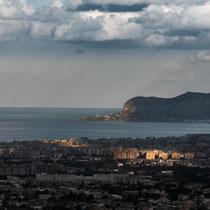 Monreale, 7 km südwestlich von Palermo mit Blick auf die Stadt.