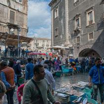 Catania - Fischmarkt in der Nähe des Domes.