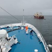 Grundarfjördur - Ein Fischtrawler war auf Grund gelaufen