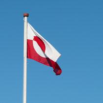 Die Flagge von Grönland