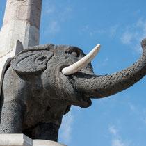 Catania - der Elefantenbrunnen, dass Wahrzeichen der Stadt.