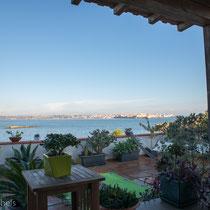 Syrakus - unsere zweite Unterkunft mit Blick auf die Altstadt.