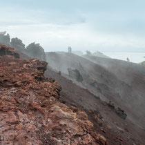 Heimaey - Der Vulkan liegt 230 m über dem Meer