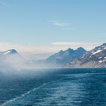 Prins-Christian-Sund - zum Glück durchfahren den Sund nur wenige Kreuzfahrtschiffe