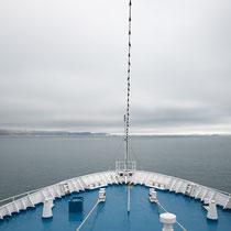 wieder an Bord Richtung Norden