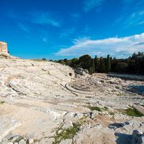 Syrakus - Parco Archeologico della Neapoli - Das Amphitheater war eines der größten im gesamten römischen Reich.