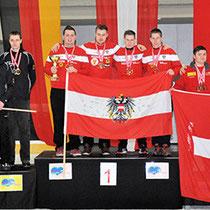 Eisstock WM 2014 Junioren U23 | Mannschaft Ziel Siegerehrung