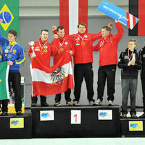 Eisstock WM 2014 Herren | Mannschaft Ziel Siegerehrung