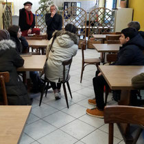 PTS Traun auf Exkursion im Soma-Markt mit Vorstandsmitgliedern