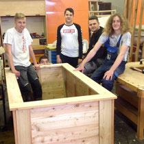 Holzarbeiten für die NMS