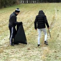 Müllsammelaktion der PTS /KM2