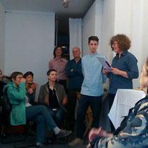 mit Sasha Pichushkin und Ellen Roß (rechts)