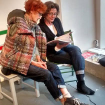 mit Monika Knobling (rechts)