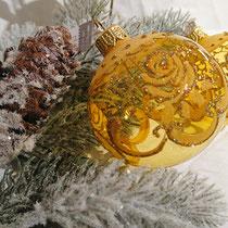 グラスボール イエロー 6個セット ウクライナ産  ¥5,400-