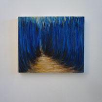 Muri d'acqua, 2015, olio su tavola / oil on wood, cm 34 x 40 (private collection)