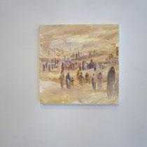 Fuga dall'Egitto, 2015, olio su tela / oil on canvas, cm 30 x 30