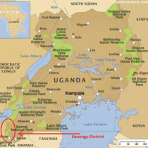 the Kanungu District is located near the ugandan border to Ruanda and democrat. Republic of Kongo