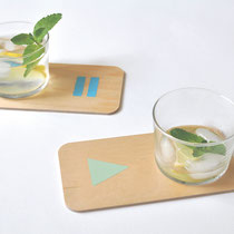 COASTERS PARTY MOOD - set of 4 - made in Jura * 39 euros