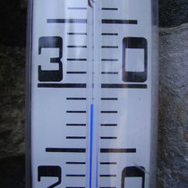 Kurz vor Mittag waren es im Schatten schon muckelige 28,5 Grad Celsius!