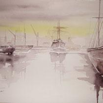 "ART HFrei - ""Am Hafen 1"" - Aquarell - 2004"