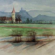 """ART HFrei - """"Morgenspaziergang"""" - Aquarell - 2013"""