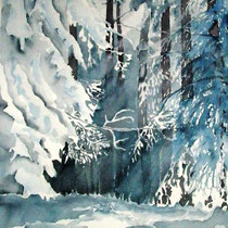 "ART HFrei - ""Winterwald"" - Aquarell - 2007"