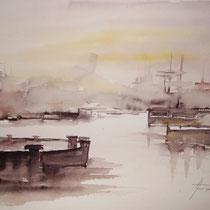 "ART HFrei - ""Am Hafen 2"" - Aquarell - 2004"