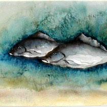 """ART HFrei - """"Teichleben"""" - Aquarell - 2002"""
