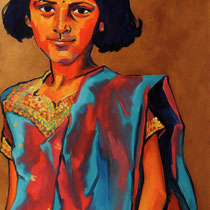 Le Sari bicolore 65X100