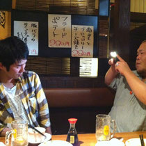 2012.6.26 打ち上げ二次会にて。昭和の笑顔を一枚。