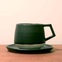 ティーカップ:黒白