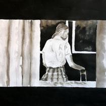25'59 - Encre de Chine, lavis sur papier (200g) - 50 x 65 cm - 2020