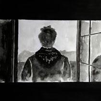 1'46'22 - Encre de Chine, lavis sur papier (200g) - 50 x 65 cm - 2021