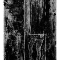 BORNE #5 - Estampe numérique (taille-douce à l'encre noire, numérisation et impression laser sur papier (120g)  - 118,9 x 84,1 cm - 2021 - Tirage limité à 30 exemplaires
