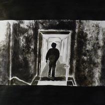 1'20'23 - Encre de Chine, lavis sur papier (200g) - 50 x 65 cm - 2019