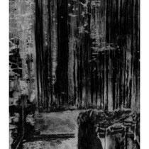 BORNE #1 - Estampe numérique (taille-douce à l'encre noire, numérisation et impression laser sur papier (120g)  - 118,9 x 84,1 cm - 2020 - Tirage limité à 30 exemplaires