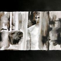 34'42 - Encre de Chine, lavis sur papier (200g) - 50 x 65 cm - 2020