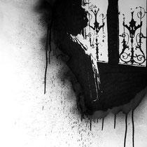 DE L'AUTRE CÔTÉ # 3 - Marqueur, graphite, peinture aérosol sur papier (200g) - 50 x 65 cm - 2015 - Collection privée - © Sébastien Veniat