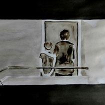1'06'34 - Encre de Chine, lavis sur papier (200g) - 50 x 65 cm - 2020