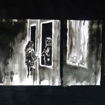 1'19'00 - Encre de Chine, lavis sur papier (200g) - 50 x 65 cm - 2019
