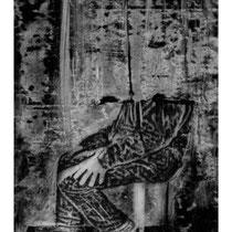 BORNE #3 - Estampe numérique (taille-douce à l'encre noire, numérisation et impression laser sur papier (120g)  - 118,9 x 84,1 cm - 2020